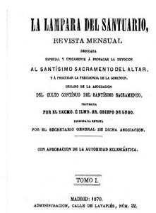 08.-Portada de la revista la Lámpara del Santuario, 1870